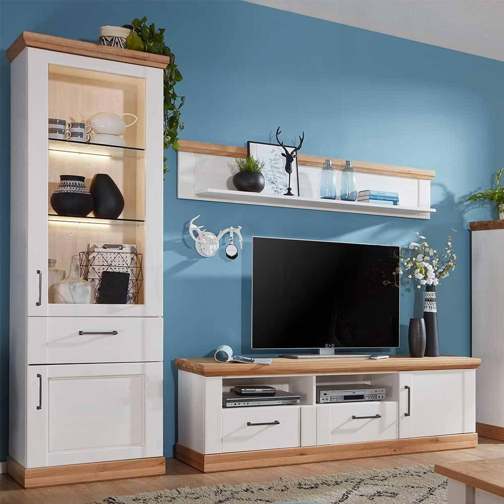 Wohnzimmermöbel Holz Landhaus