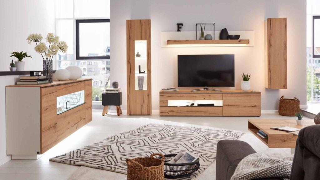 Wohnzimmermöbel Holz Weiß