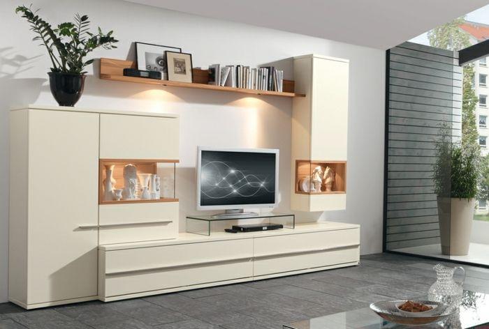 Wohnzimmermöbel Weiß Matt