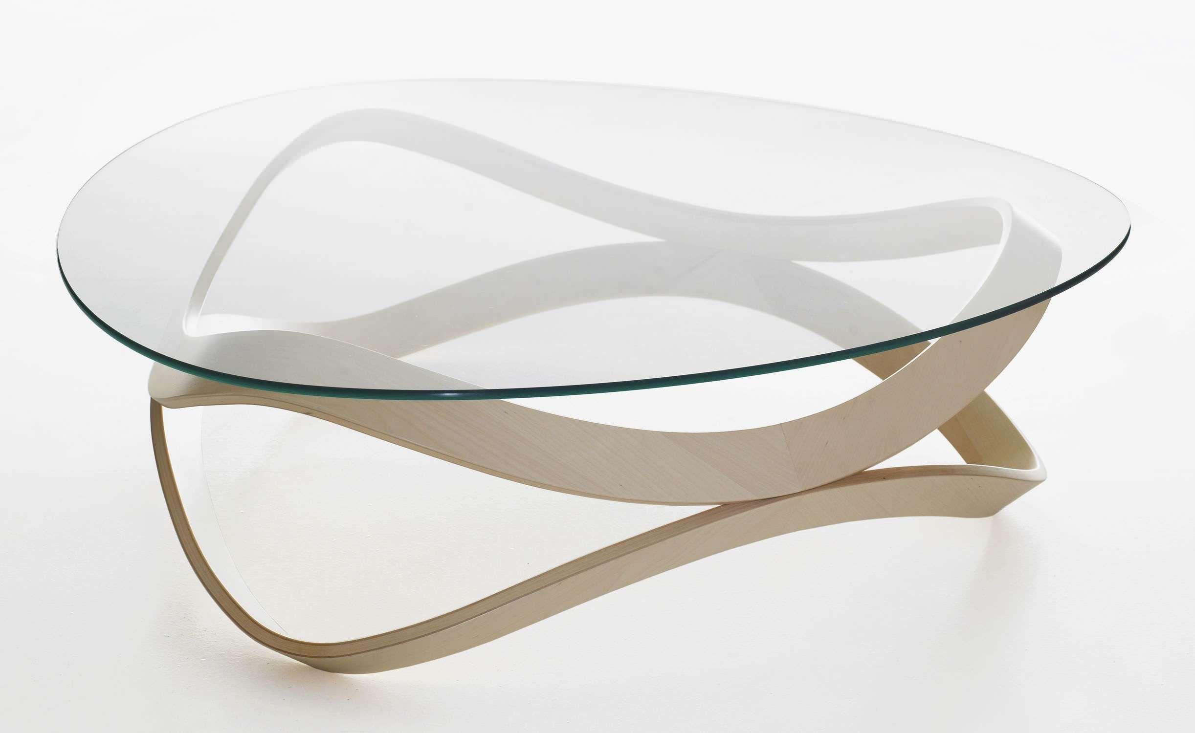 Wohnzimmertisch Glas Oval