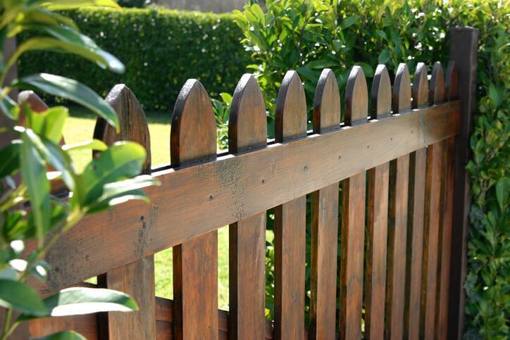 Zaun Bauen Holz