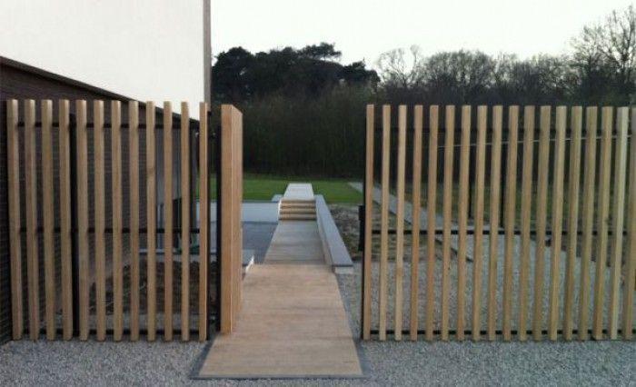 Zaun Garten Modern