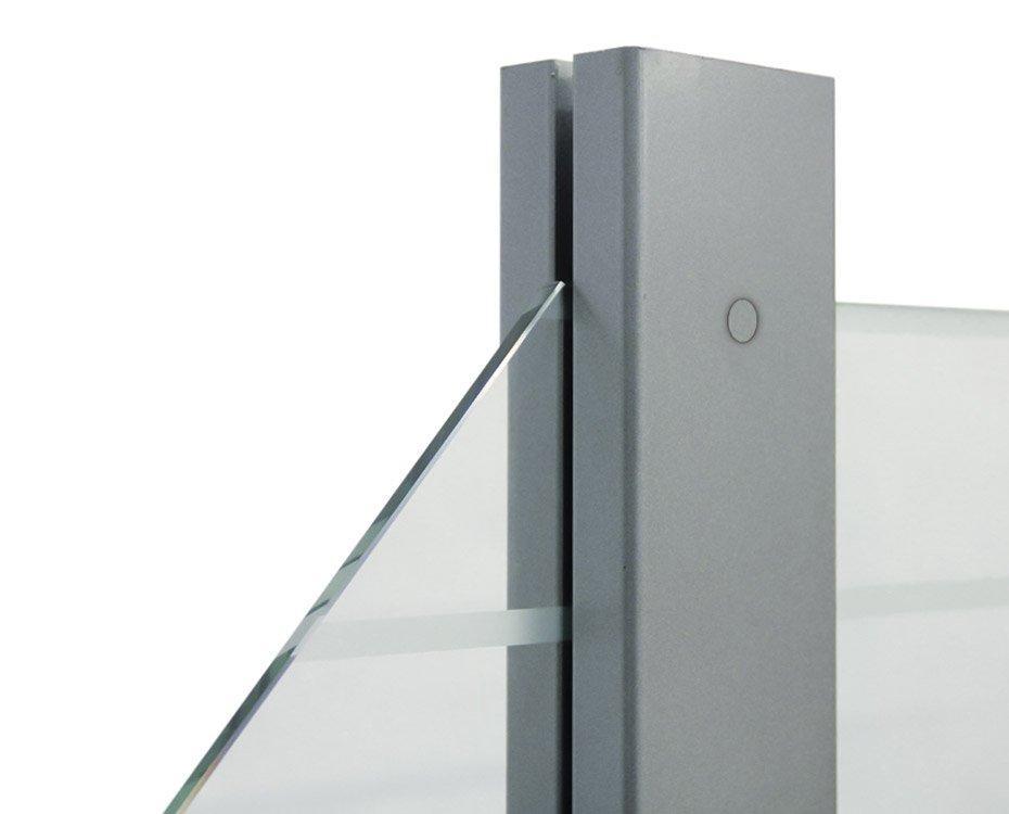 Zaun Glas Sichtschutz