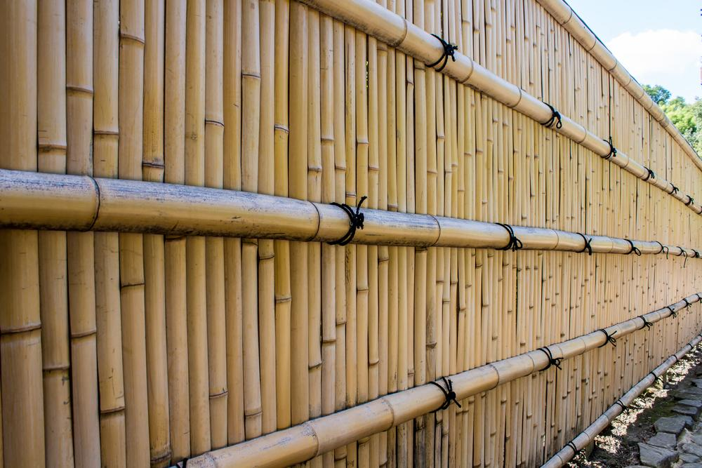 Zaun Sichtschutz Bambus