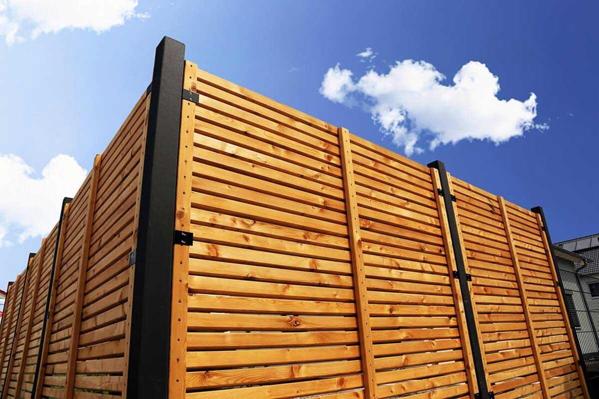 Zaun Sichtschutz Holz Selber Machen