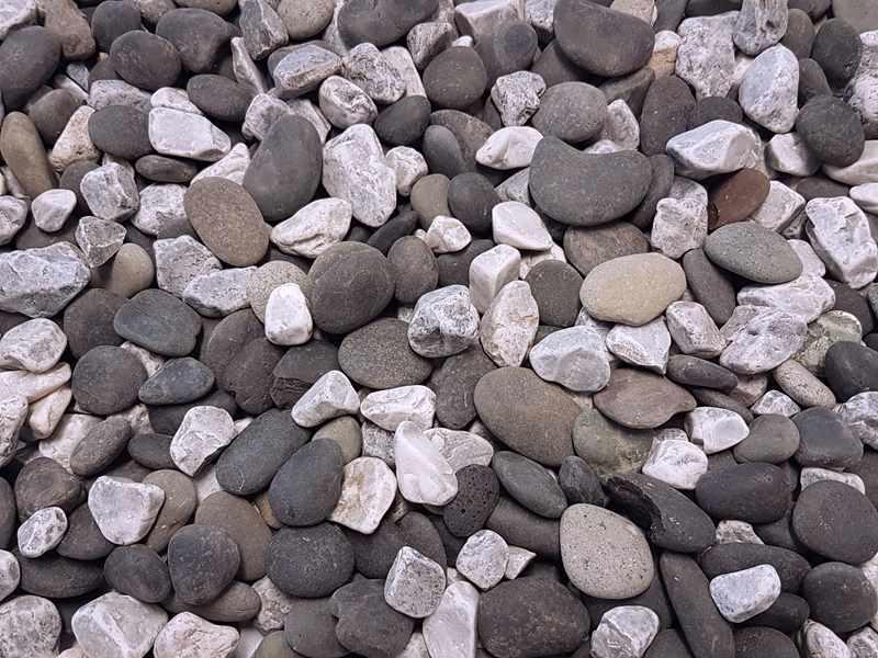 Zierkies Weiße Steine Garten