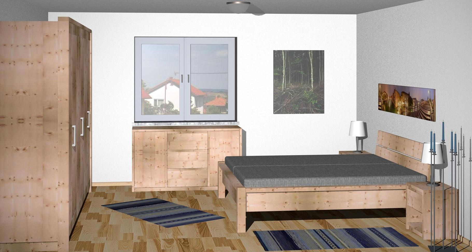 Zirbenholz Schlafzimmer Südtirol