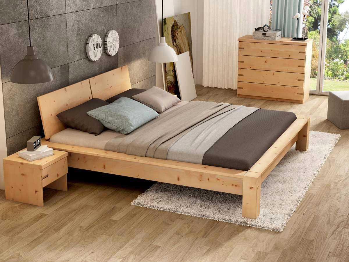 Zirbenholz Wandverkleidung Schlafzimmer