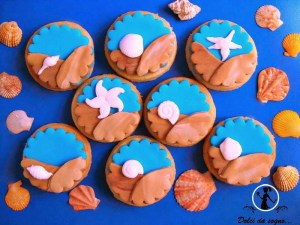 biscotti tema mare e conchiglie