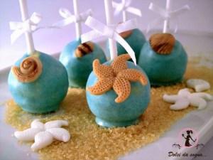cake pops con tema mare