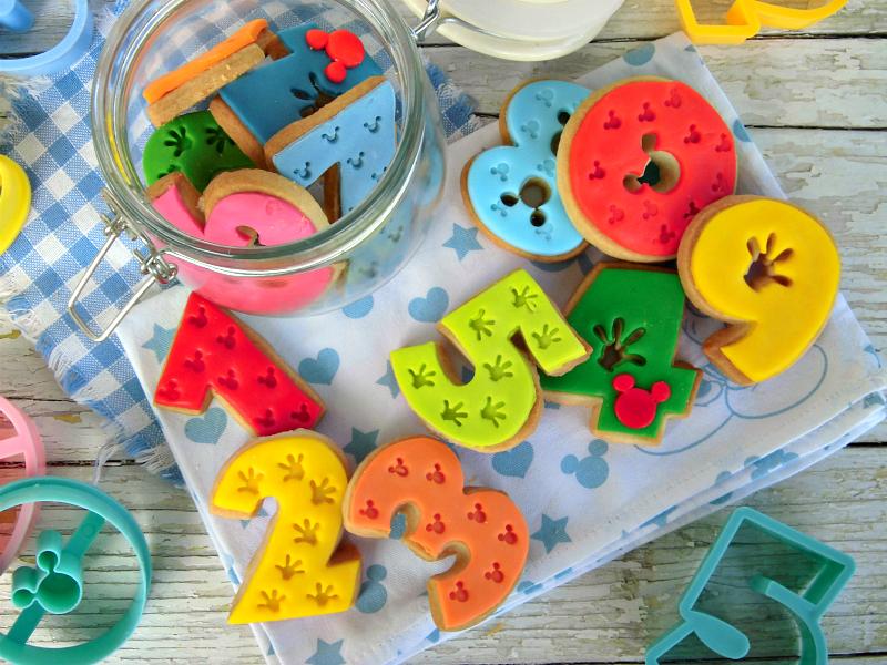 biscotti a forma di numero