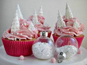 Cupcakes rosa per Natale