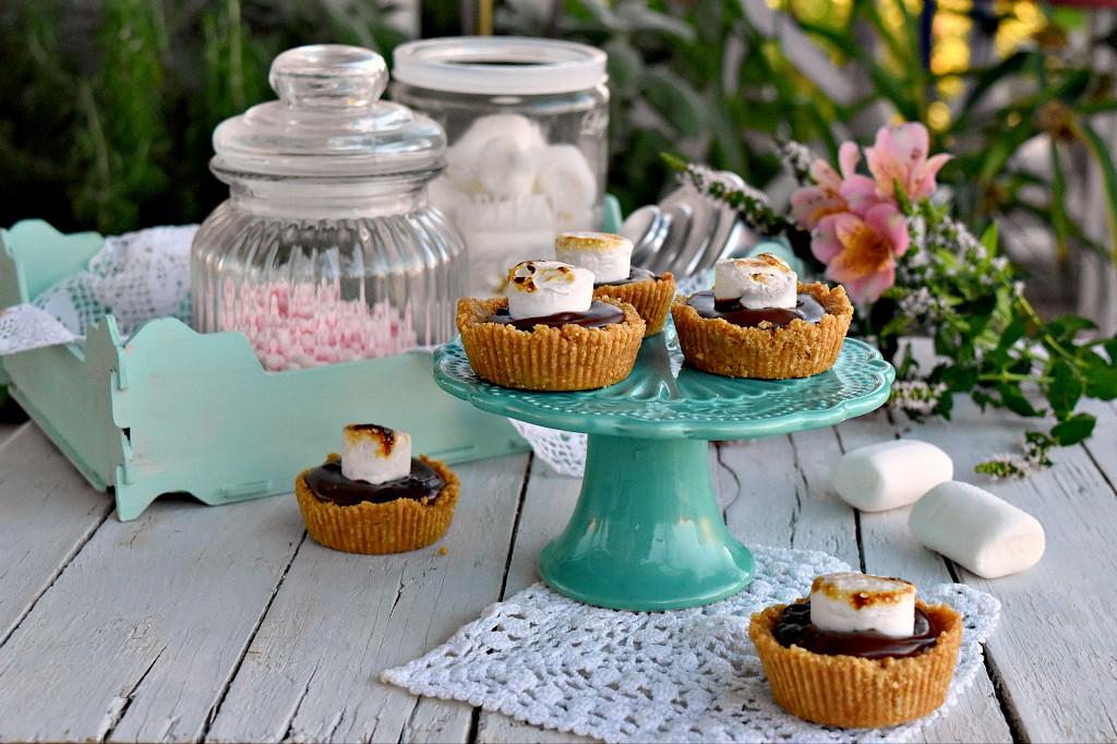 Cestini con nutella e marshmallow, ricetta senza cottura