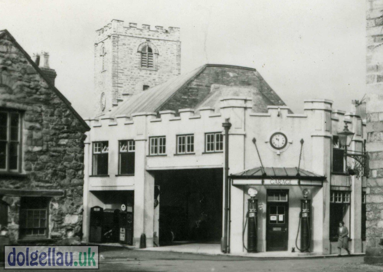 Early 1950s Photography of The Old Castle Garage and Tyre Depot (now Barclays Bank).