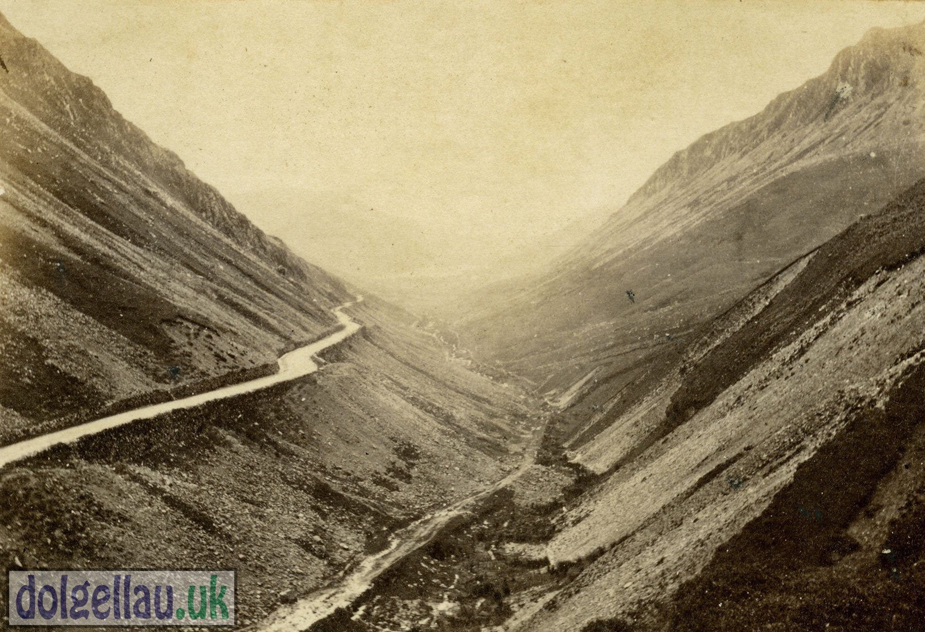 1866 Album Page - The Pass of Talyllyn. 26th September 1866.