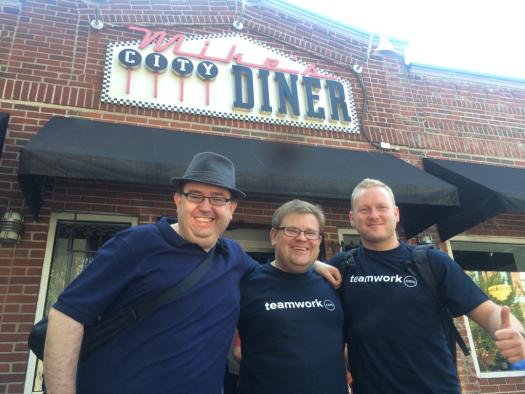 Teamwork's DC, me, and Teamwork CEO Peter enjoying a breakfast of champions at #inbound2015 Boston