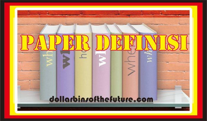 Contoh Paper Definisi