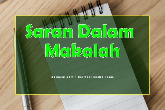Contoh Penutup Makalah Singkat Saran - Bosmeal.com