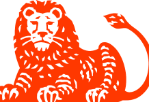 ing logo as a lion standing guard