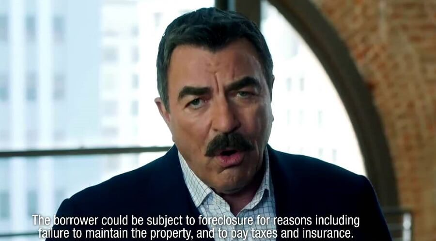 Tom Selleck talking about the dangers of reverse mortgage