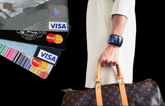 Woman on Shopping, Credit Card, Purchasing, Pay after Figuring Out her Discretionary Income