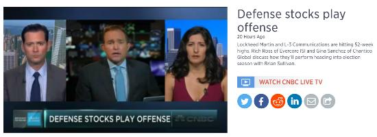 Defense stocks video July 16