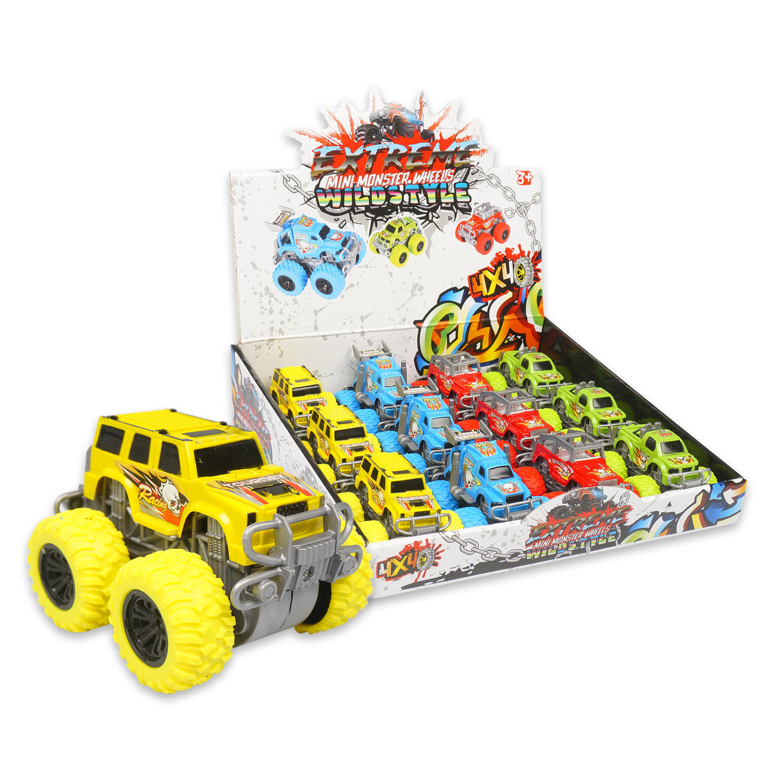 Wholesale Extreme Mini Monster Truck Toys Assorted Colors Sku 2349766 Dollardays