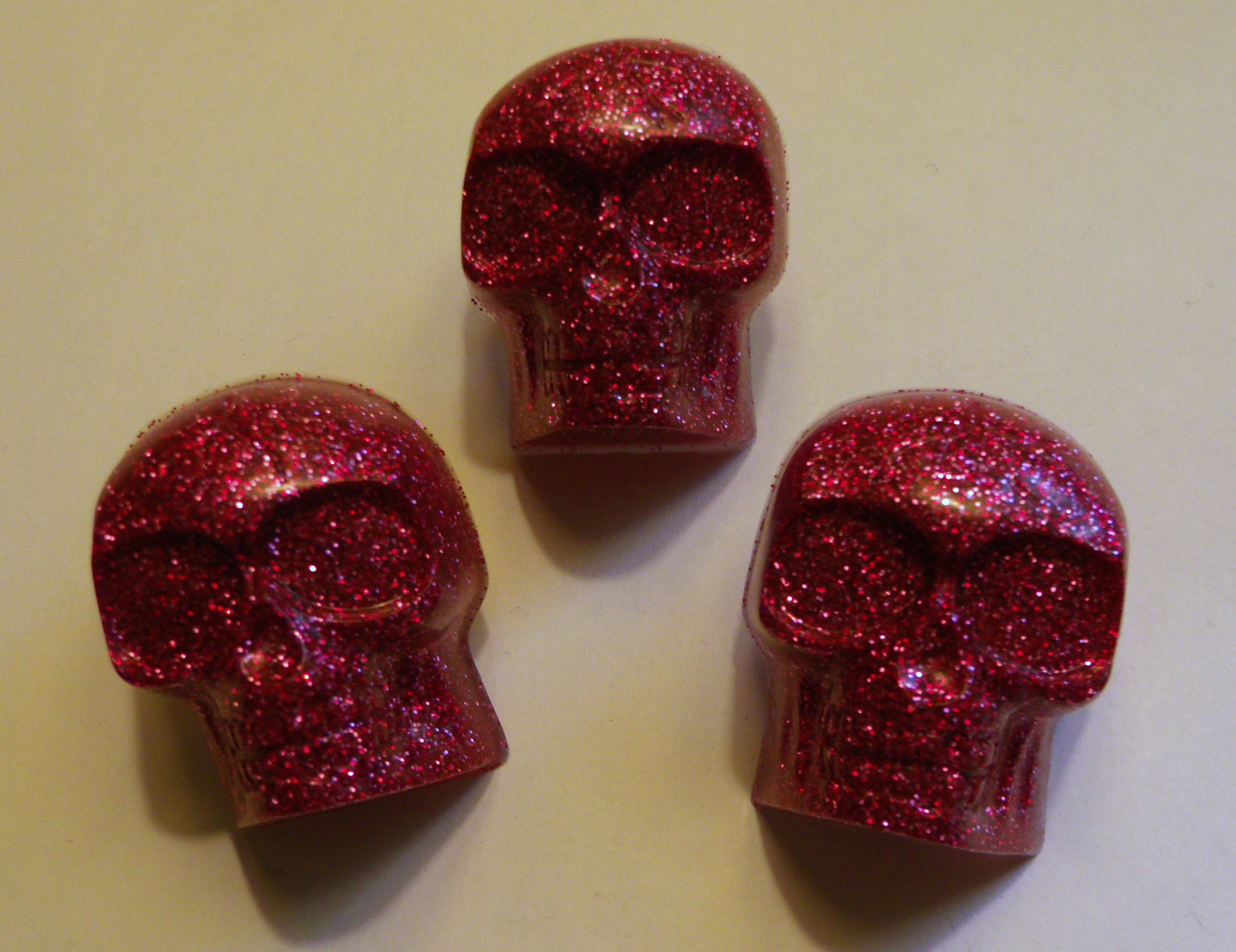 Glitter skulls from Dollar Store Crafts
