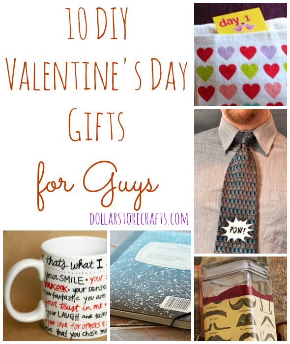 10 DIY Valentines Day Gifts For Guys Dollar Store Crafts