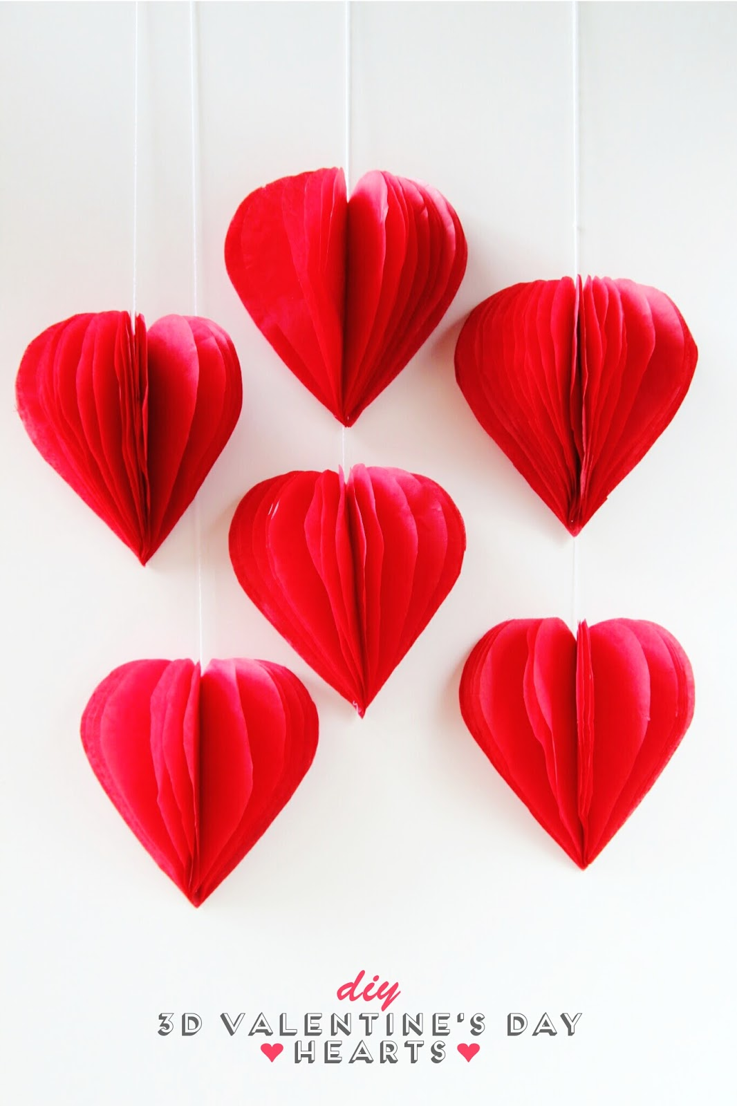 Make 3D Tissue Paper Hearts Dollar Store Crafts
