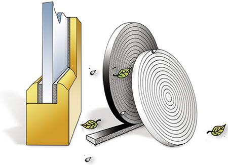 Vorlegeband zum Einbau von Glasscheiben