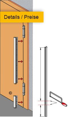 BO -für flächenbündige Türen Montage - Preise
