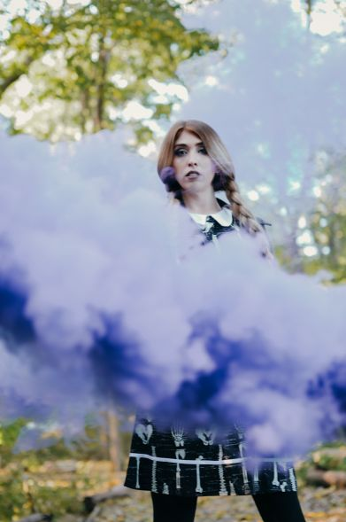 purple smoke photo