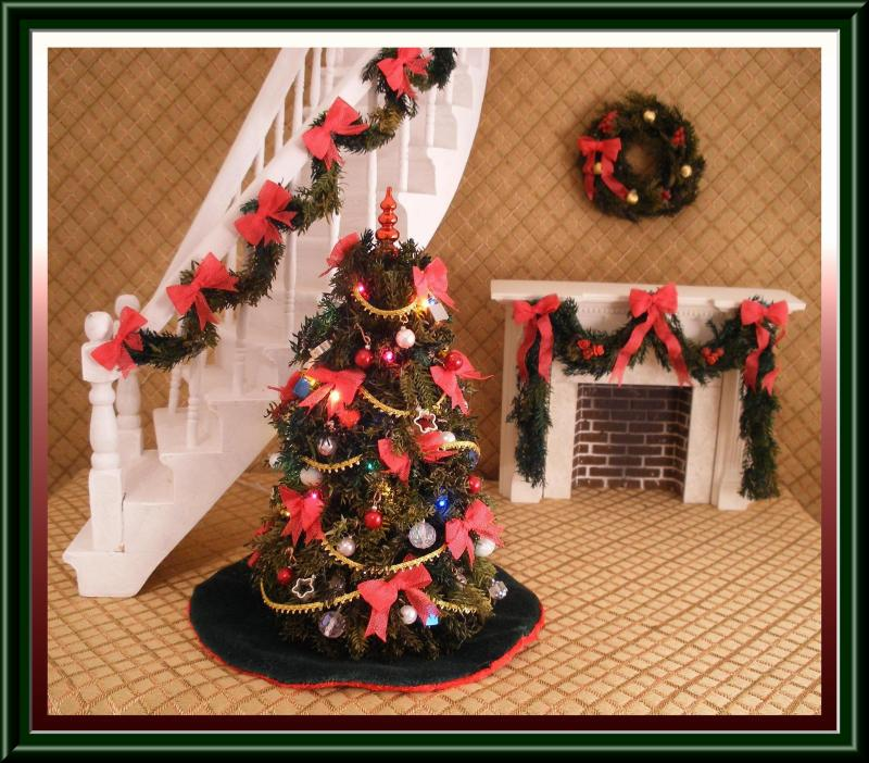 miniature dollhouse christmas tree 8 1 2 tall 400 00 - Dollhouse Christmas Decorations