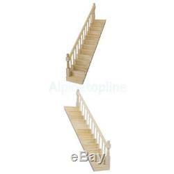 Dollhouse Staircase Straight Stair Case With Left Right Hand Rail | Pre Assembled Stair Railing | Pressure Treated | Aluminum Stair | Deck Railing Systems | Cable Railing Kit | Deckorators