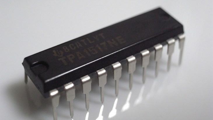TPA1517NEを使ってAB級アンプを作る – その1