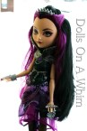 Mattel Ever After High Raven Queen Rebel Original Outfit hair front torso wallet bracelet face crown