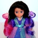 Mattel Lady Lovely Locks LovelyLocks Duchess RavenWaves doll dress comb gnomes pink purple hair