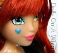 Jakks Pacific Winx Club Special Edition Blue Bloomix San Diego Comic Con heart irises cheek makeup