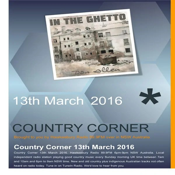 Country Corner 13th March 2016