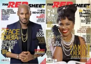 Omoni Oboli and 2face-Idibia-cover-the-redsheet-magazine