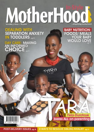 Tara Fela-Durotoye covers Mother in-stlye magazine with her three sons