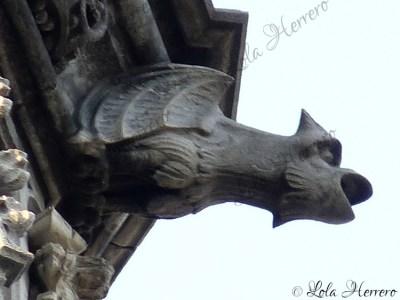 Gárgola de La Maison du Roi de Bruselas (Bélgica)