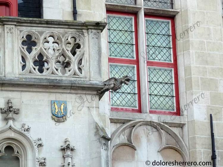 gargoyles in Bruges