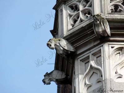 Gárgolas del Palacio Provincial de Brujas (Bélgica)