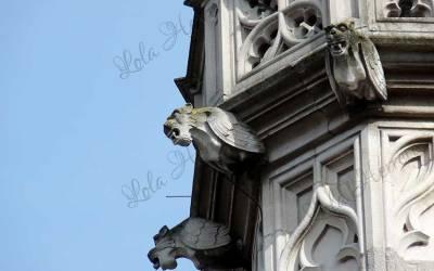 Las gárgolas del Palacio Provincial de Brujas