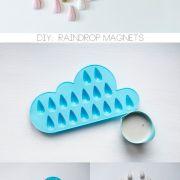 Regentropfen Magnete DIY