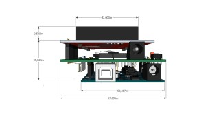 3D Model side view