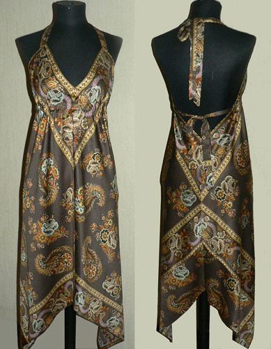 Коричневое платье от Пестова