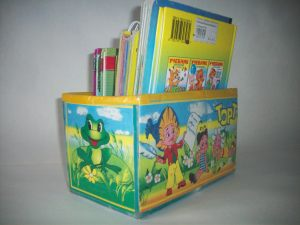 Вид коробки для книг с другой стороны